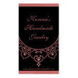 Jewelled Glam Business Card, Pink