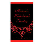 Jewelled Glam Business Card, Ruby Red