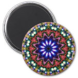 Jewelled Kaleidoscope 11 2 Inch Round Magnet
