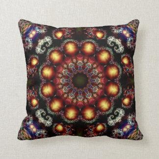 Jewelled Kaleidoscope Design No 03 Throw Pillow