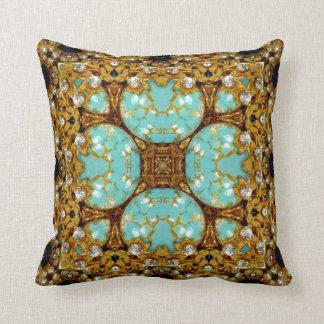Jewelled Kaleidoscope  Throw Pillow