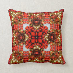 Jewelled Kaleidoscope  Throw Pillow