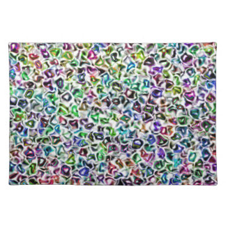 Jewelled mosaic cloth placemat