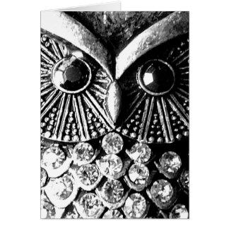 Jewelled Owl Card