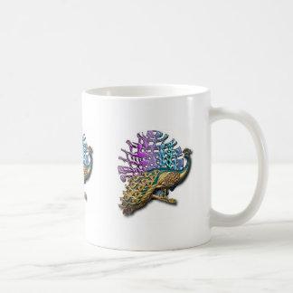 Jewelled peacock mugs