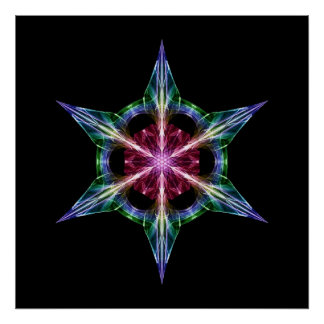 Jewelled Star Poster