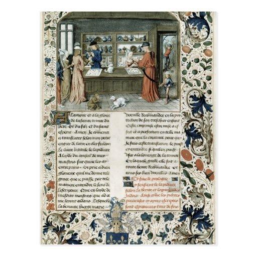 Jeweller's Shop, from Lapidaire de Mandeville Post Card