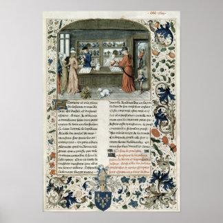 Jeweller's Shop, from Lapidaire de Mandeville Poster