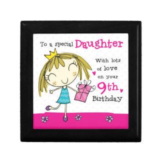 JEWELLERY BOX Daughter 9th Birthday pink princess