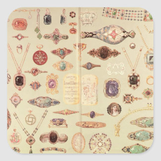 Jewellery from the 'Tiffany Catalogue', 1890 Square Sticker