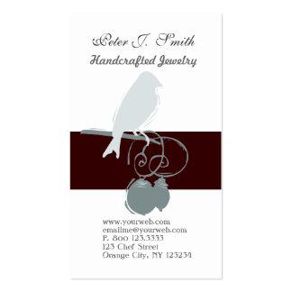 Jewelry Artist Whimsical Cute Bird Business Card