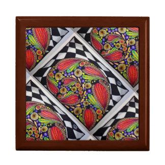 Jewelry Box, Fancy Snail Shell Original Art Design Keepsake Box