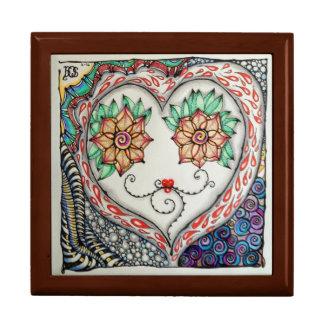 Jewelry Box with Original Art Tile