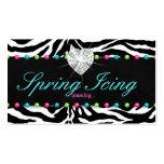 Jewelry Business Card Zebra Spring Dots Jewelry
