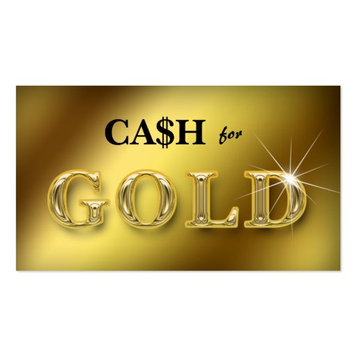 Jewelry Business Cards Cash for Gold 2