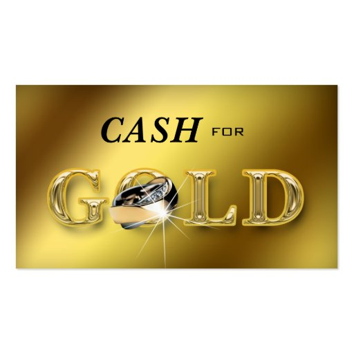 Jewelry Business Cards Cash for Gold Metallic