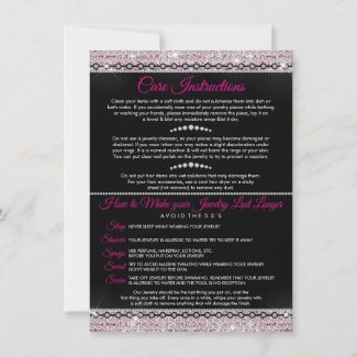 Jewelry Consultant Thank You Card