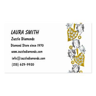 JEWELRY CUSTOMIZABLE BUSINESS CARD - White