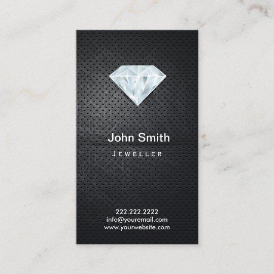 Jewelry dark metal diamond business card zazzle jewelry dark metal diamond business card colourmoves