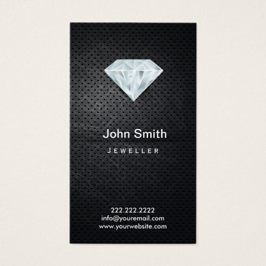 Jewelry dark metal diamond business card zazzle jewelry dark metal diamond business card colourmoves