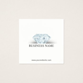 Browse products at zazzle with the theme jewellers business cards jewelry design elegant diamond square business card reheart Images