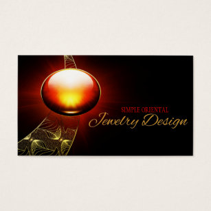 Red gemstone business cards templates zazzle jewelry design or generic business card template cheaphphosting Images