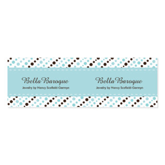 Jewelry Designer Business Card Price Tags