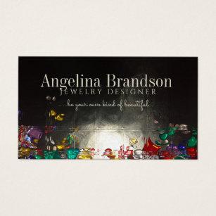 Jewelry making business cards templates zazzle jewelry designer colorful diamond style card colourmoves