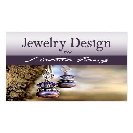 Jewelry designer custom jeweler business card templates for Handmade jewelry business cards