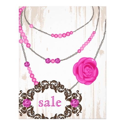 Jewelry Flyer Rose Necklace Brown Pink