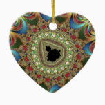 Jewelry Fractal Ceramic Ornament