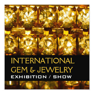 Jewelry gem exhibition opening business CUSTOMIZE Card