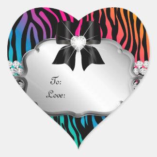 Jewelry Gift Tag Zebra Rainbow Salon