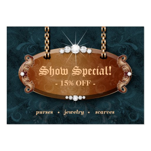 Jewelry Handbag Purse Suede Blue Tan Gift Card Business Card