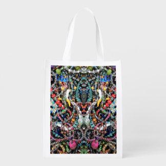 Jewelry Kaleidoscope #2  Reusable Shopping Bag