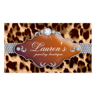 Jewelry Leopard Business Card Tanning Brown