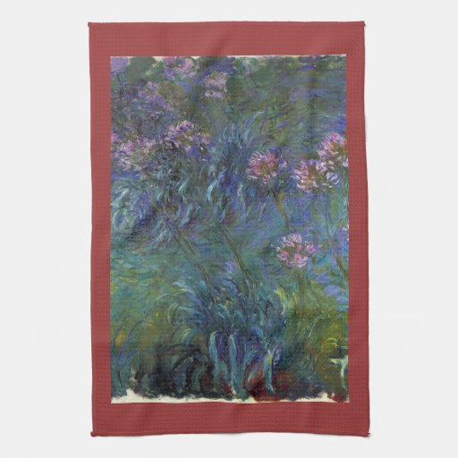 Jewelry lilies by Claude Monet Towels