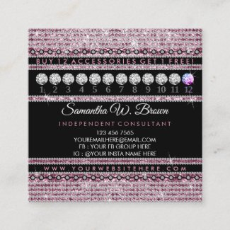 Jewelry Loyalty Punch Square Business Card