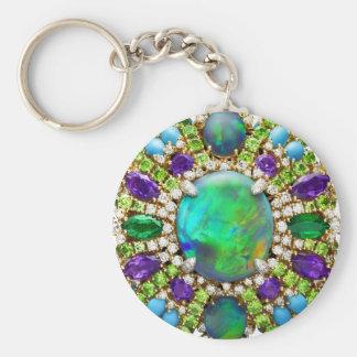 Jewelry Mandala Basic Round Button Keychain