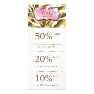 Jewelry Marketing Cards Pink Gold Zebra Salon