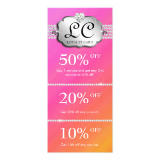 Jewelry Marketing Cards Pink Orange