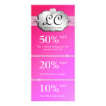 Jewelry Marketing Cards Red Pink Full Color Rack Card