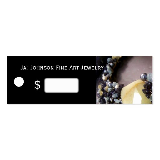 Jewelry Merchandise Price Tags Business Card Templates