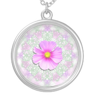 Jewelry - Necklace - Bi-Color Cosmos on Lace & Lat