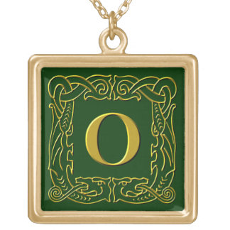 """Jewelry - Necklace - Celtic Dragon-Framed """"O"""""""