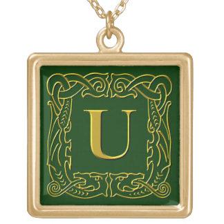 "Jewelry - Necklace - Celtic Dragon-Framed ""U"""