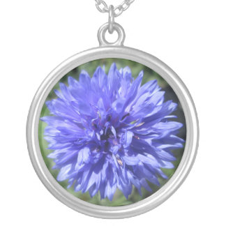 Jewelry - Necklace - Cornflower Blue Bachelors Btn