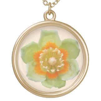 Jewelry - Necklace - Tulip Poplar Tulip on Cream