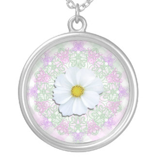 Jewelry - Necklace - White Cosmos on Lace & Lattic