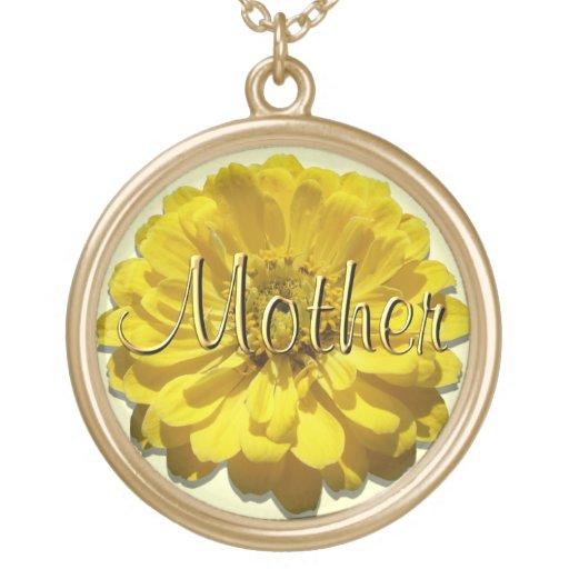 "Jewelry - Necklace - Yellow Zinnia ""Mother"""